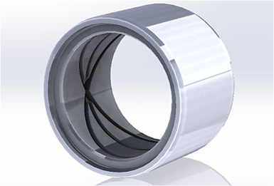 SAPparts manufactured quality Alloy Steel Bushing precision component.