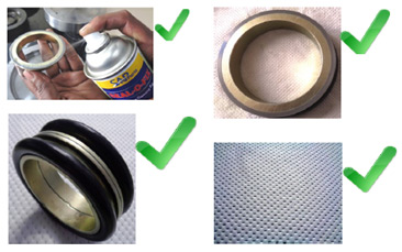 Use Seal–O-Fix Spray. Check for Sealing edge free from dust, dirt, hair, etc. Always use only lint free Wipes/Cloths, Never use tissue Paper or cotton waste.